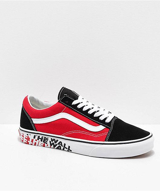 Vans Old Skool OTW Black \u0026 Red Skate