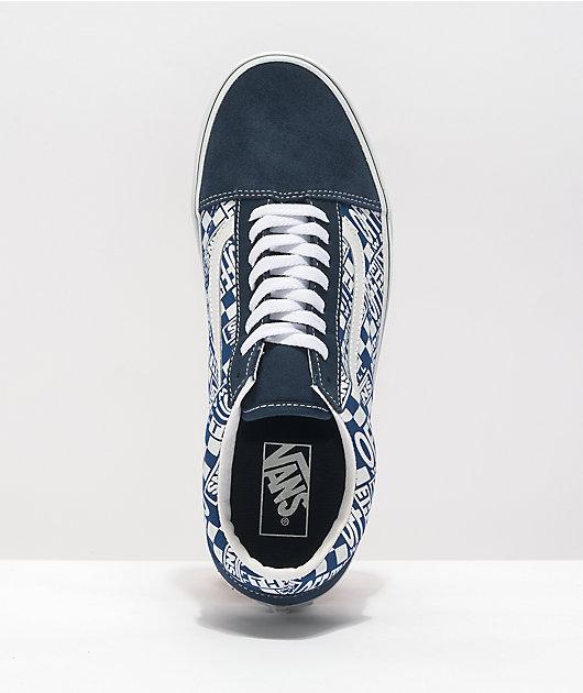 Vans Old Skool OTW Dress Blue & True Blue Skate Shoes