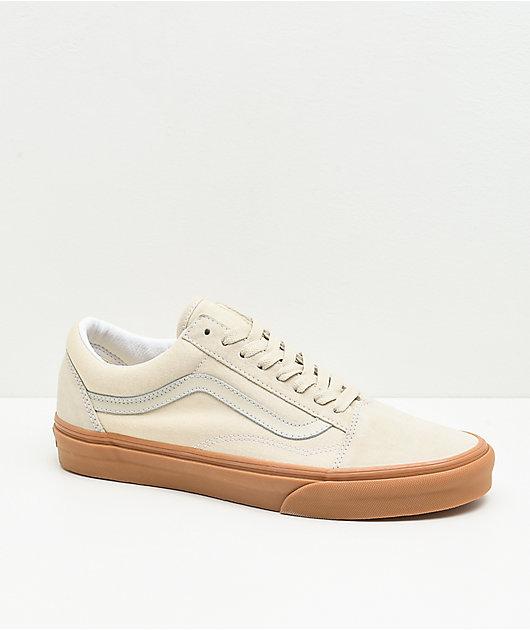 Vans Old Skool Oatmeal & Gum Skate Shoes