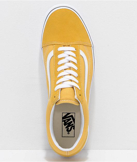 Vans Old Skool Ochre & White Skate Shoes