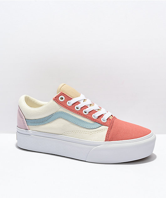 Vans Old Skool Pastel Twill Platform Shoes