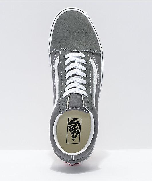 Vans Old Skool Pewter Grey & White Skate Shoes