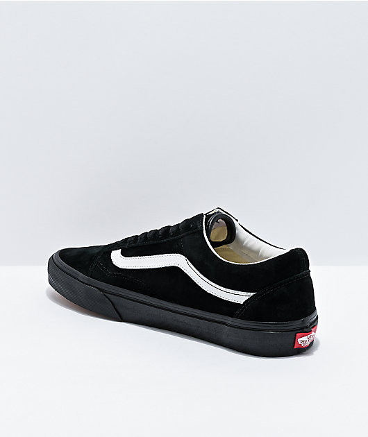 Vans Old Skool Pig Suede Black & White Skate Shoes