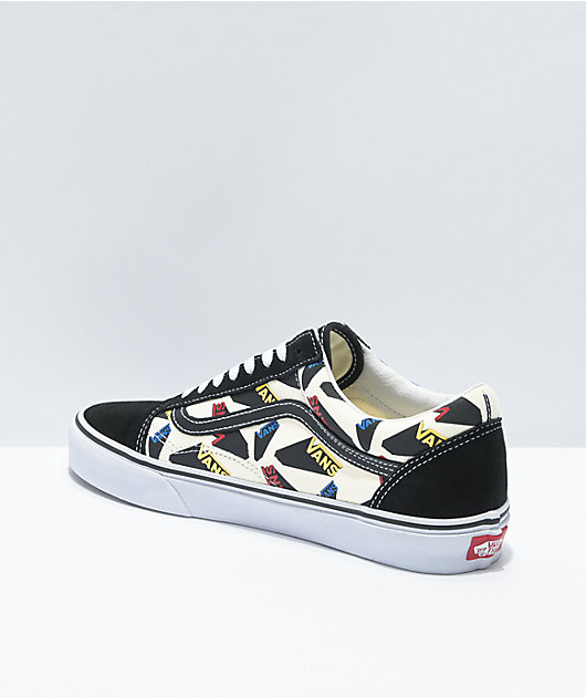 Vans Old Skool Pop Logo Classic Black Skate Shoes