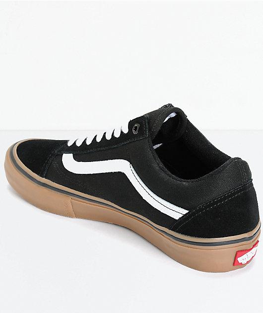 Cita estornudar En cualquier momento  Vans Old Skool Pro Black, White & Gum Skate Shoes   Zumiez