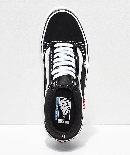 Vans Old Skool Pro Black & White Skate Shoes