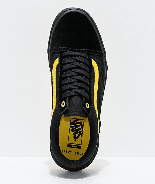 Vans Old Skool Pro Edgar Black & Yellow Skate Shoes