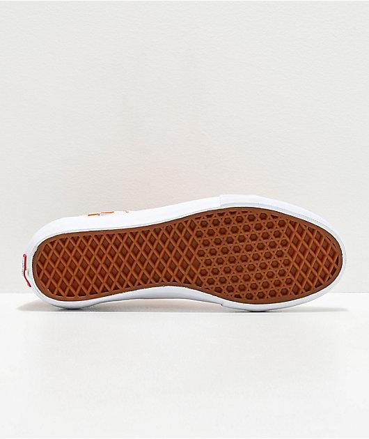 Vans Old Skool Pro Golden Oak & White Checkerboard Skate Shoes