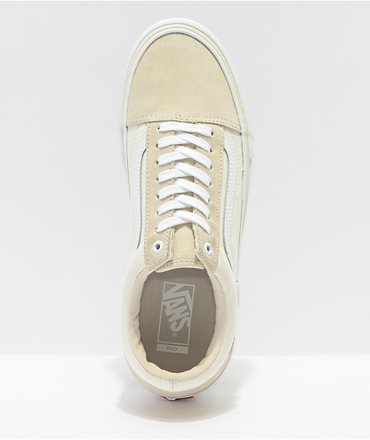 Vans Old Skool Pro Marshmallow & White Skate Shoes