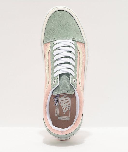 Vans Old Skool Pro Washed Peach & Blue Skate Shoes