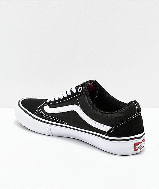 Vans Old Skool Pro zapatos de skate en negro y blanco