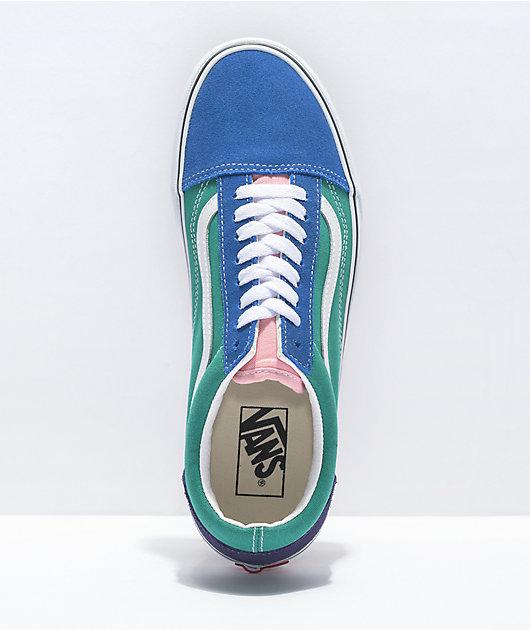 Vans Old Skool Retro Court Multi & White Skate Shoes