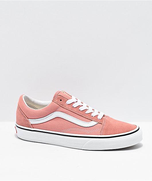 Vans Old Skool Rose Dawn & White Skate Shoes