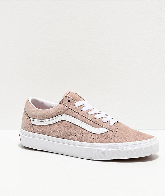 Vans Old Skool Shadow Gray & White Pig Suede Skate Shoes