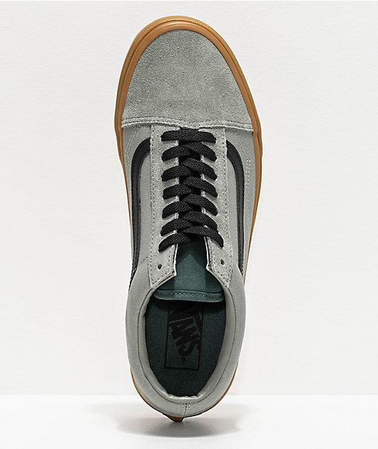 Vans Old Skool Shadow Green & Gum Skate Shoes