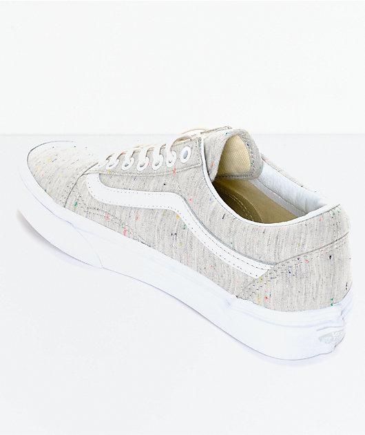 Vans Old Skool Speckle Jersey Grey Womens Shoes