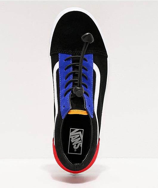 Vans Old Skool Toggle Black & Multicolor Skate Shoes