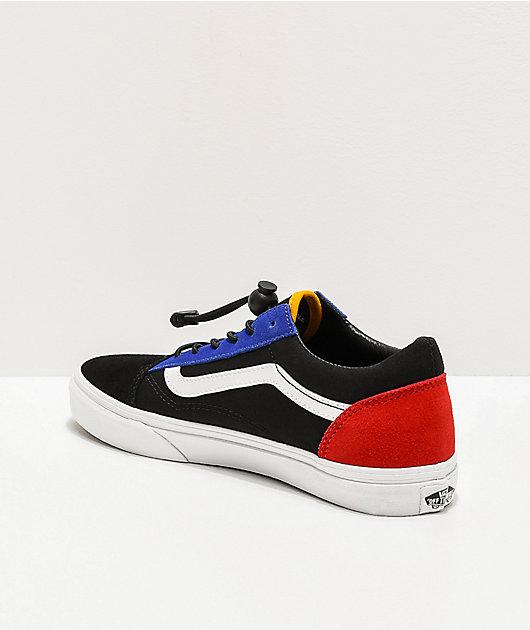 Vans Old Skool Toggle zapatos de skate negros y multicolor