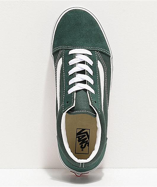 Vans Old Skool Trekking Green & White Skate Shoes