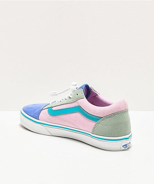 frutas Asser saltar  Vans Old Skool Ultramarine zapatos de skate azules y rosas   Zumiez