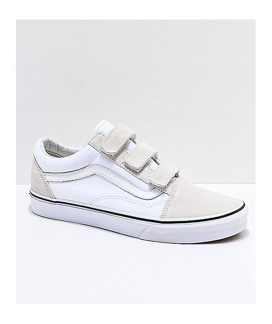 Vans Old Skool V True White Skate Shoes