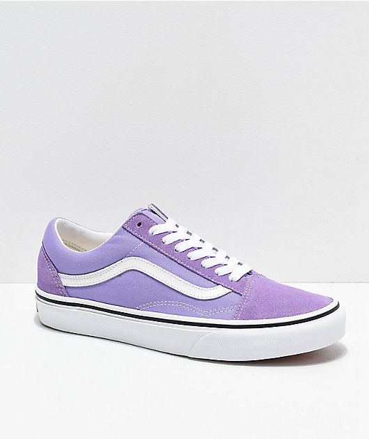 Vans Old Skool Violet & White Skate Shoes