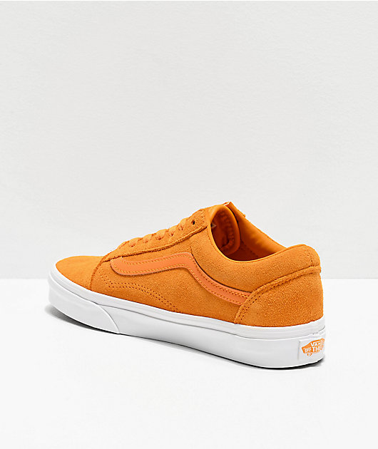 Vans Old Skool Zinnia zapatos de skate de ante suave amarillo