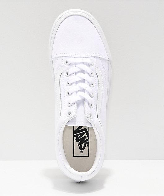 Vans Old Skool zapatos de skate blancos de plataforma
