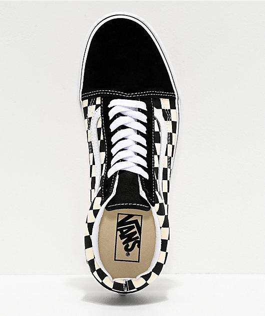 Vans Old Skool zapatos de skate de cuadros negros y blancos