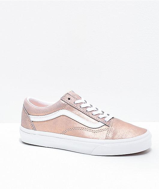 Vans Old Skool zapatos de skate en oro rosa