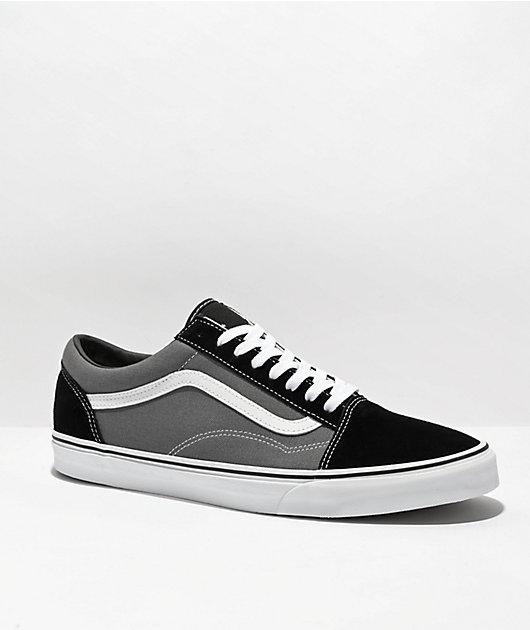 Vans Old Skool zapatos de skate negros y peltre