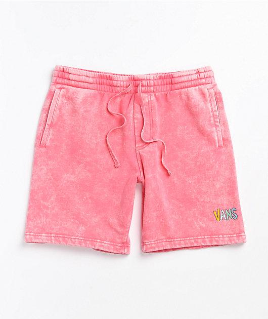 Vans Overlook Pink Wash Fleece Sweat Shorts