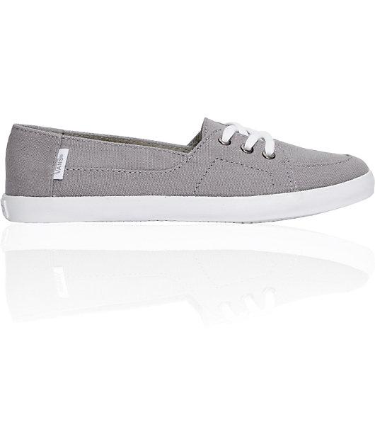 Vans Palisades Vulcanized Grey & White Shoes | Zumiez