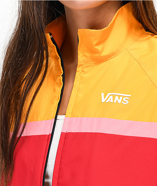 Vans Primary Colorblock Crop Windbreaker Jacket