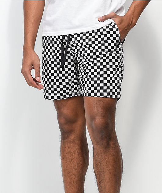Vans Range Checkerboard Black & White Shorts