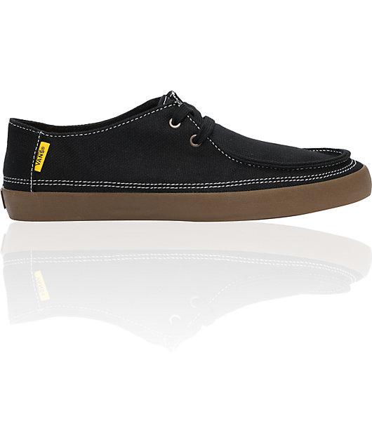 Vans Rata Vulc Black Hemp Skate Shoes | Zumiez