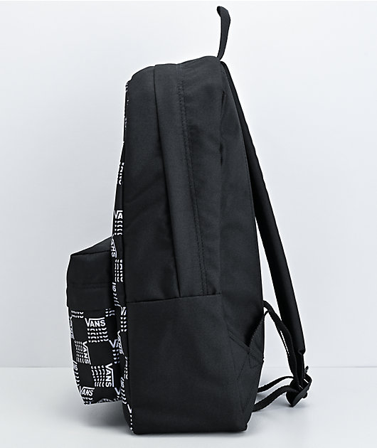 Vans Realm Classic Word Checkerboard Black Backpack