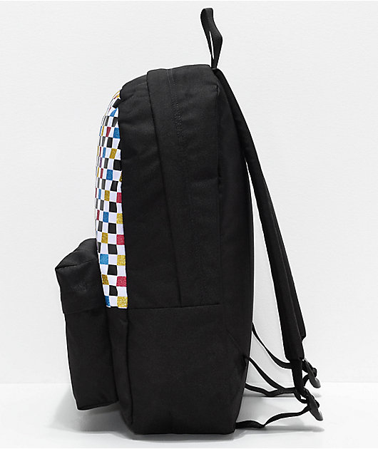 Vans Realm Glitter Checkerboard Backpack