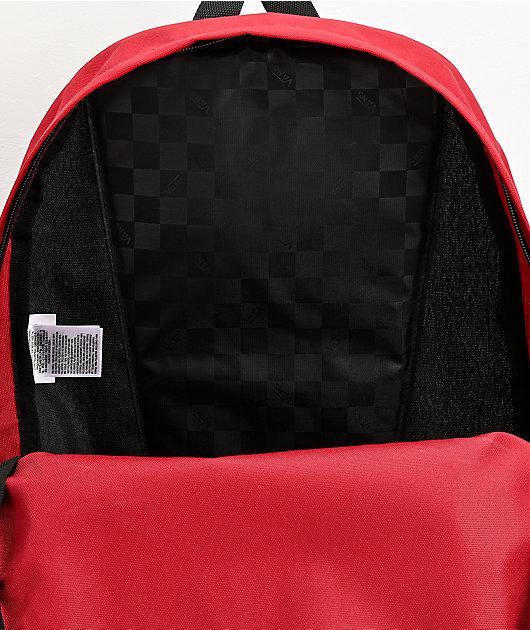 Vans Realm Street Sport Red & Silver Backpack