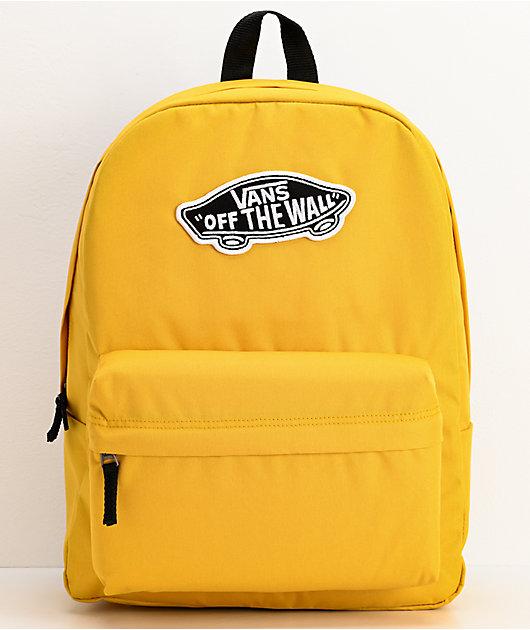 Vans Realm Yolk Yellow Backpack