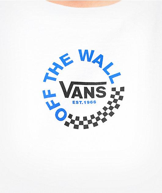 Vans Rose White & Blue Crop T-Shirt