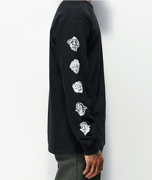 Vans Rowan Faces Black Long Sleeve T-Shirt