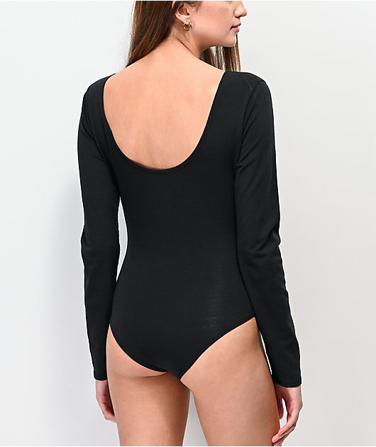 Vans Scoop Black Long Sleeve Bodysuit