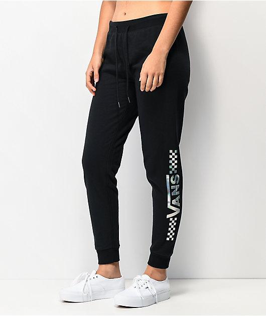 Vans Shine It pantalones deportivos negros iridiscentes