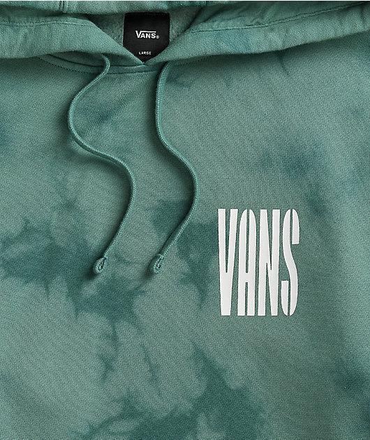 Vans Shore Pound Dark Green Tie Dye Hoodie