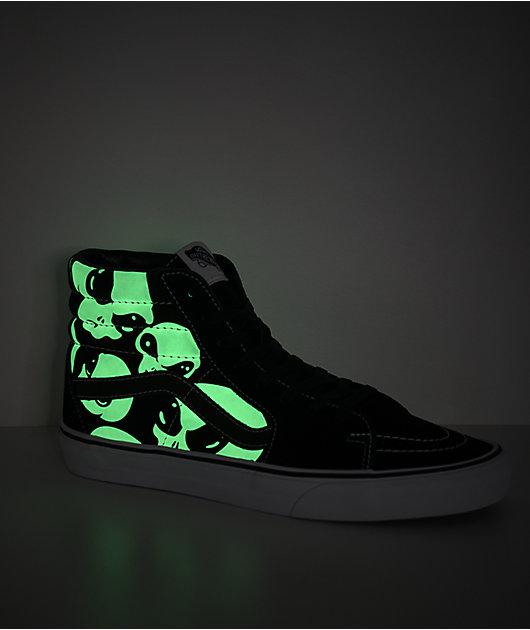 Vans Sk8-Hi Alien Ghost Black & White Skate Shoes