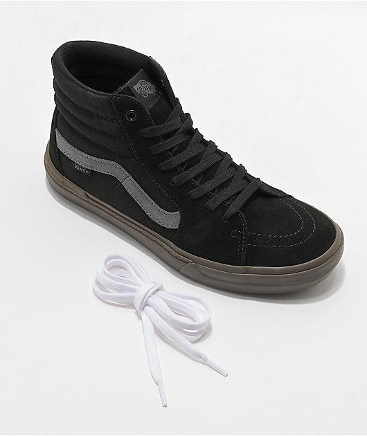 Vans Sk8-Hi BMX Black & Dark Gum Skate Shoes