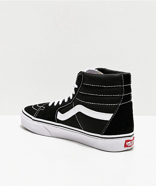 Vans Sk8-Hi Black & White Skate Shoes