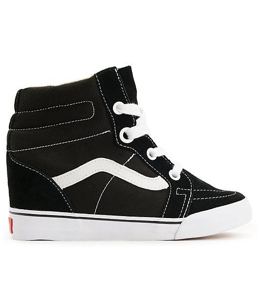 Vans Sk8-Hi Black Wedge Shoes | Zumiez