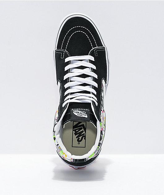 Vans Sk8-Hi Checkerboard Cube Black & White Skate Shoes
